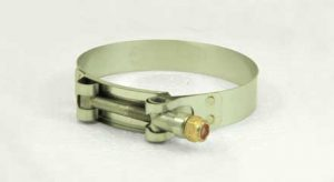 Stainless Steel T-bolt hose clamp, 3-1/8in - 3-7/16in, TB313