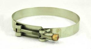 Stainless Steel T-bolt hose clamp, 4-1/4in - 4-9/16in, TB425
