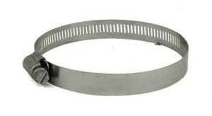 Stainless Steel screw hose clamp, 3in - 4in, 6856