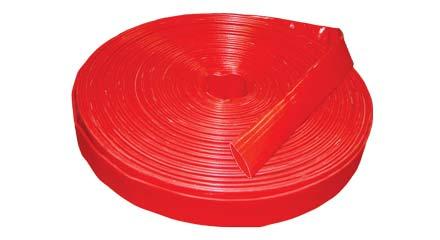 4in Heavy Duty Red Flatlay Hose, 4140