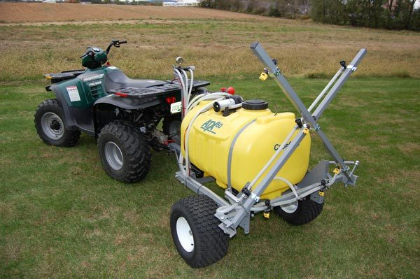 winterize, ATX sprayer - trailer kit with 12 foot boom, 60 gallon tank shown