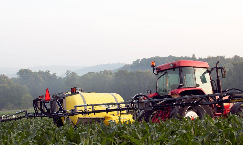 sprayer on a farm after sprayer inspection