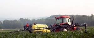 sprayer on a farm after sprayer inspection
