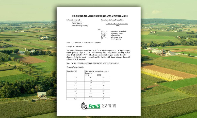 dribbling-nitrogen-calibration-chart