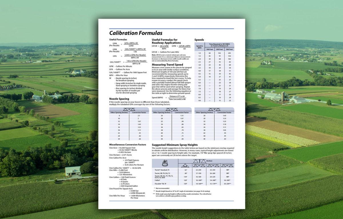 calibration formulas chart