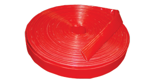 red lay flat dischrage hose image