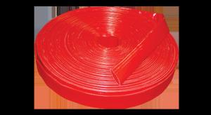 red lay flat dischrage hose image